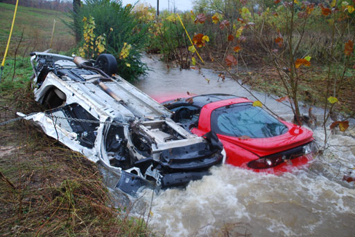 Two Car Crash in Water Photo